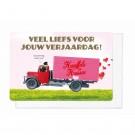 Wenskaart met vrachtwagen - Veel liefs voor jouw verjaardag (1852)